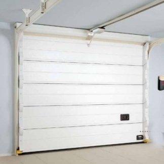 non porta di color bianco di un garage