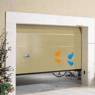 porta di color avorio di un garage
