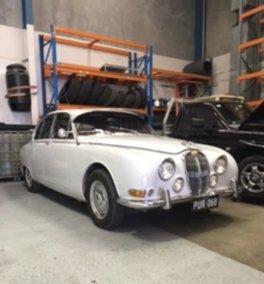 white vintage classic car