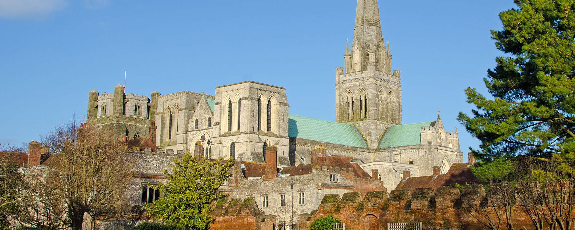 Cathedral and historic buildings in Chichester