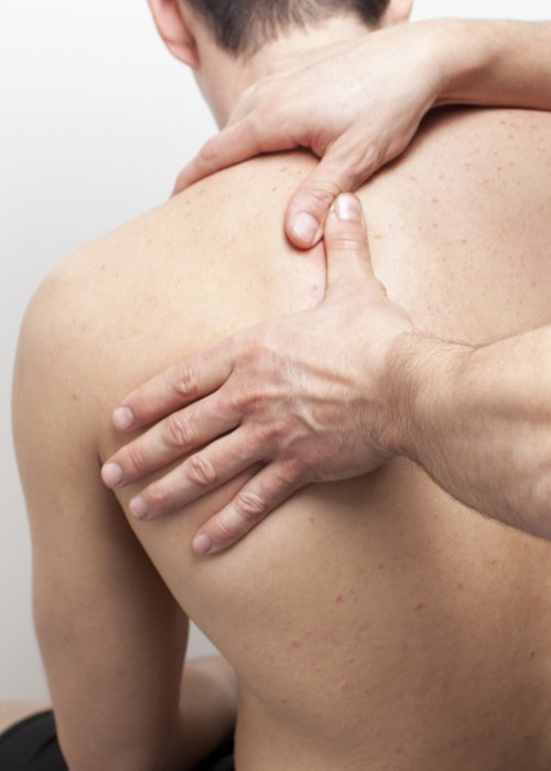 Upper body strengthening during therapy services in Montgomery, OH