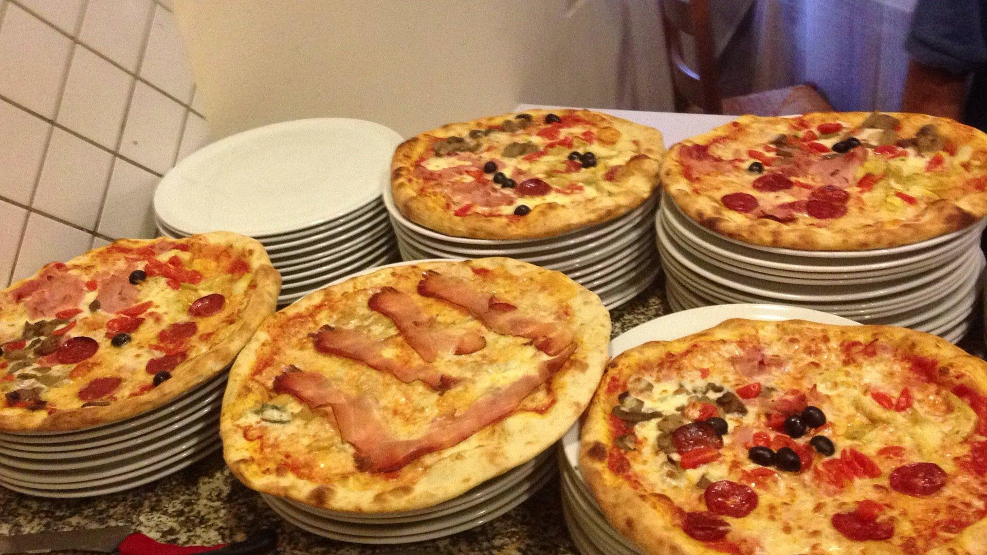 pizze impiattate