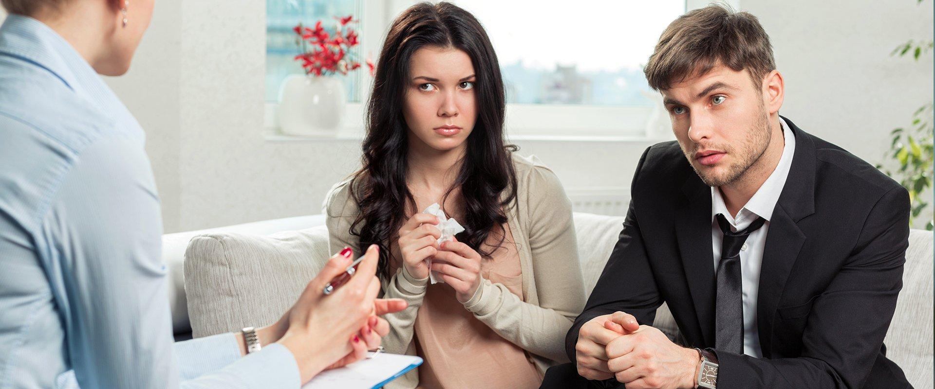a couple seeking legal advice
