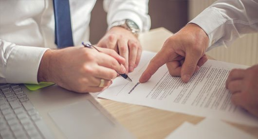 signing employee contract