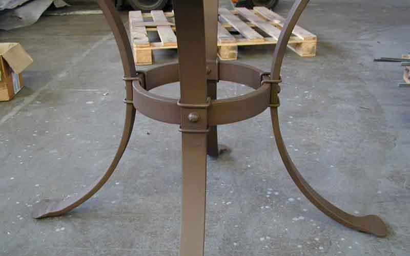 gambe tavolo in ferro battuto