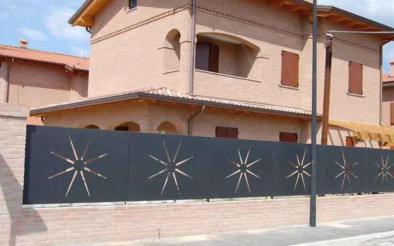 recinzione floreale