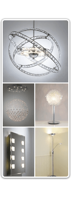 Collage of modern lighting features and uplights