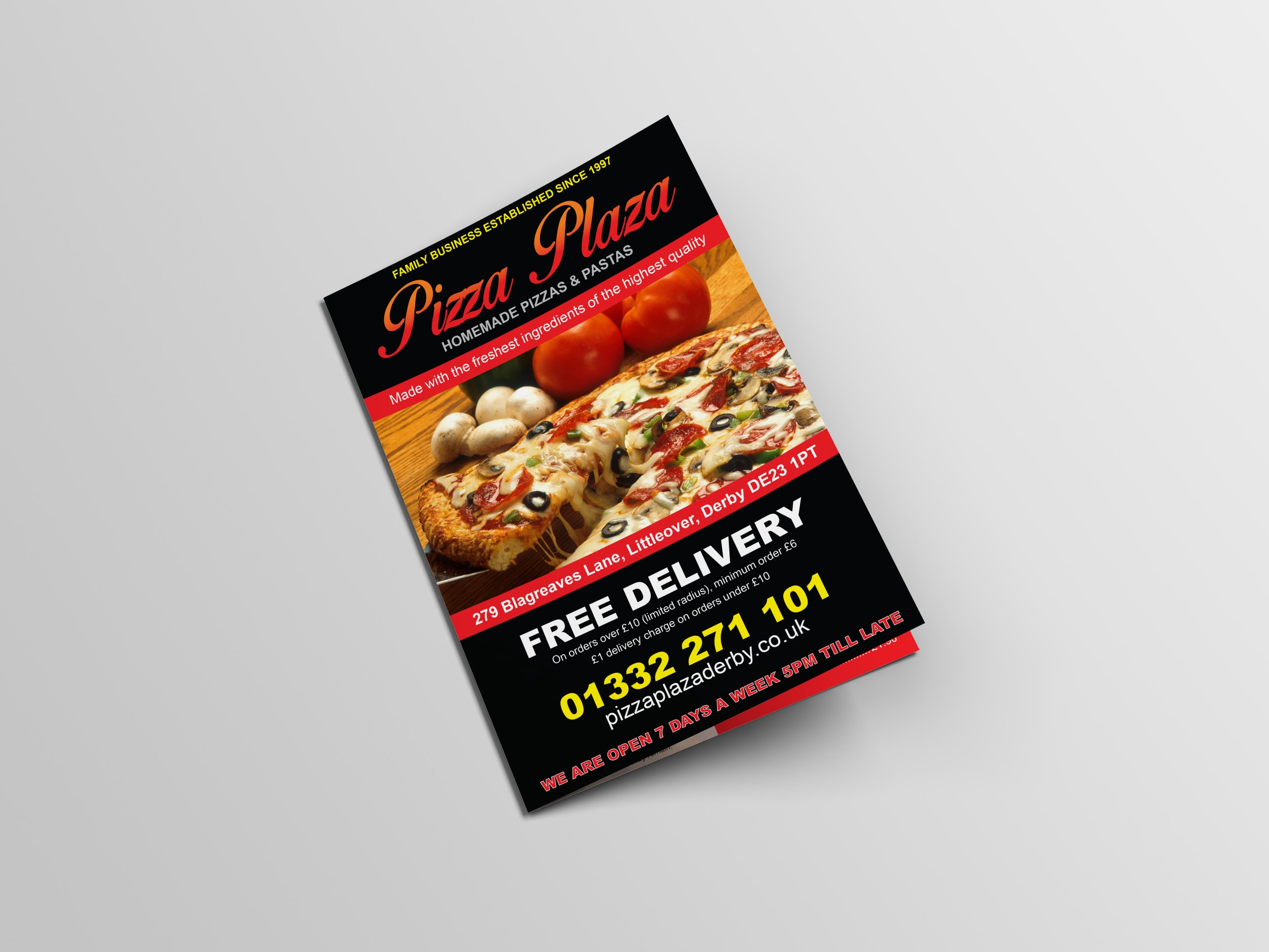 Pizza Plaza Derby Leaflet