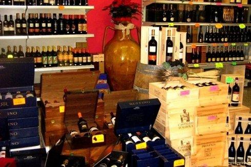 Casse di vino Ruffino.