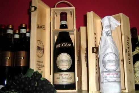 Bottiglia di vino Amarone della Valpolicella.