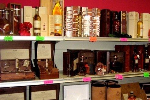 Cognac e distillati pregiati.
