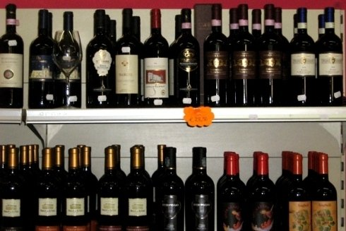 Bottiglie di vino vendute.