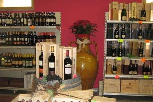 Esposizione di vini.