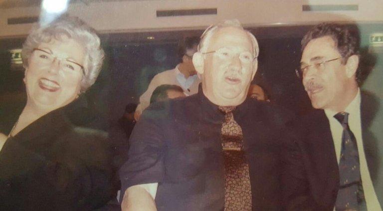 Dott. Prof. Paolo Brunamonti Binello con Ledermann nel 2002