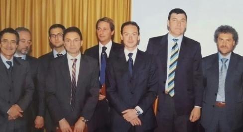Dott. Prof. Paolo Brunamonti Binello e i colleghi del Galliera