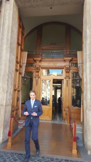 Prof Brunamonti  a palazzo Madama con il Rotary