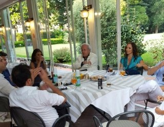 Con i giornalisti di telenord Dott Lingua dott Cantile Dott Tedesco