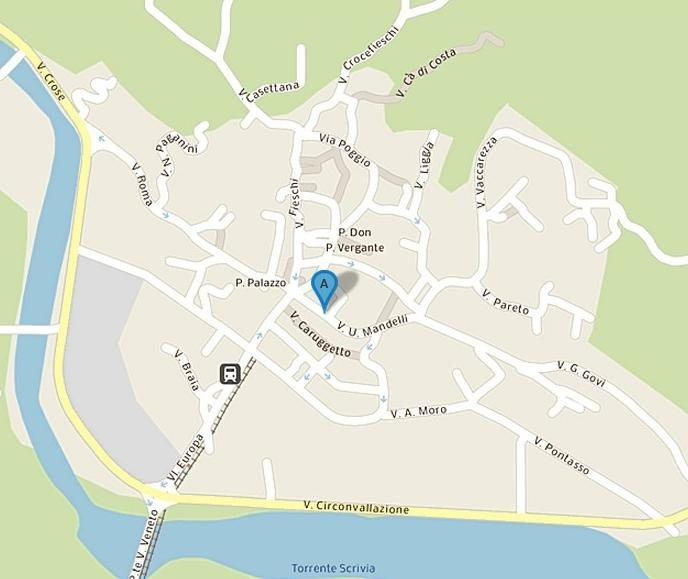mappa studio Casella dentista Brunamonti Paolo