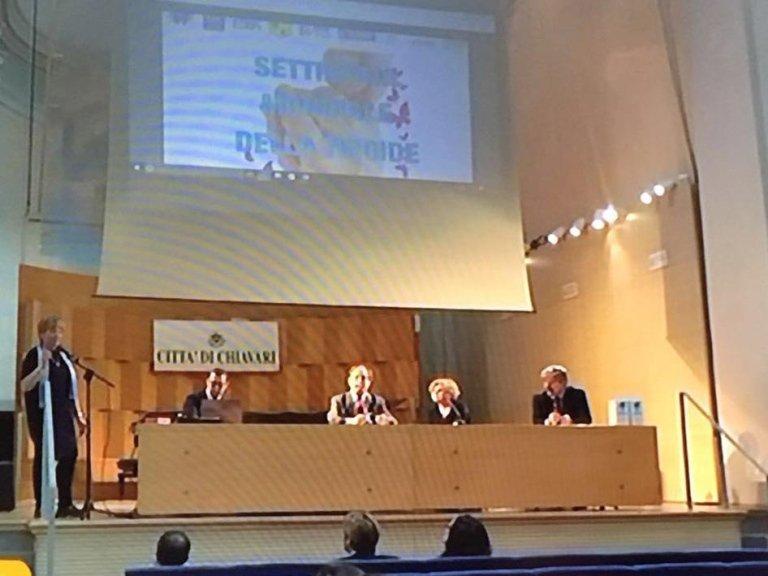 Insieme con Dott. Marugo e Dott. Bartolini Presidente Ordine dei Medici al Congresso Settimana Mondiale della Tiroide