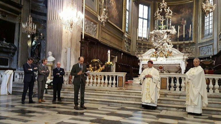 Paolo Brunamonti Binello Presidente Medici Cattolici e Mons. Anselmi