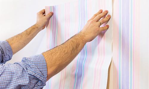 Professional installing wallcover in Kula, HI