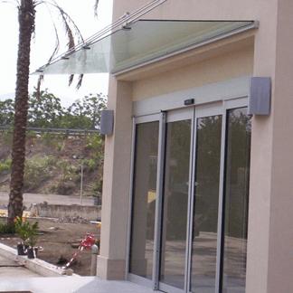Pensilina copertura porta