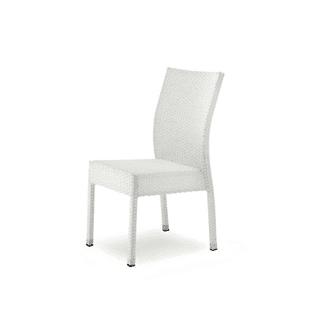Sedia bianca schienale arco