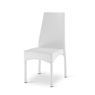 Sedia bianca intrecciata