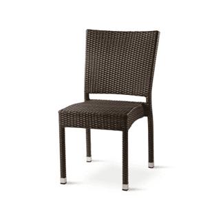 Sedia con superficie intrecciata
