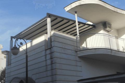 Pergolato su terrazza