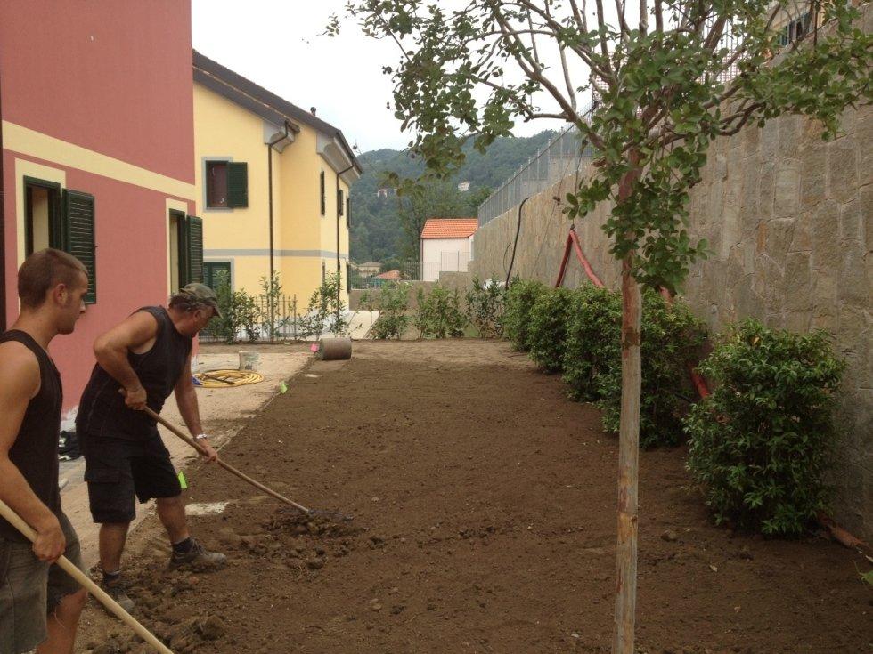 Preparazione terreno per posa prato nato