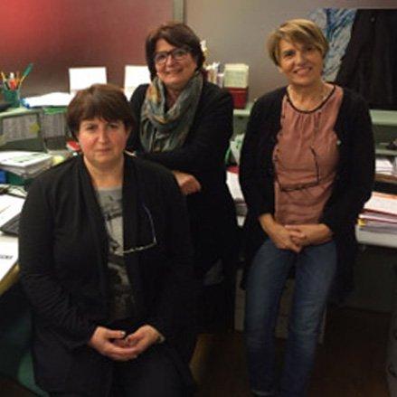 Le segretarie: Barbara, Marisa e Valeria
