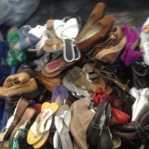 calzature usate, import export scarpe, imballaggio scarpe