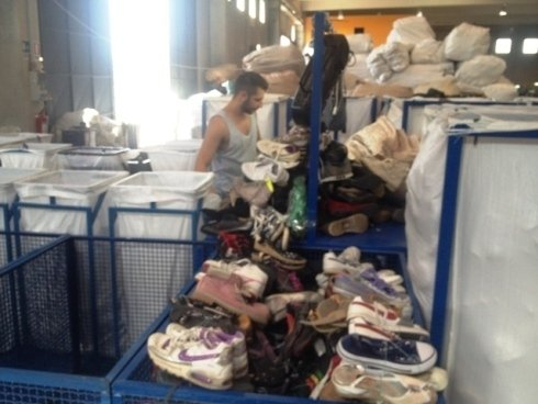 scarpe usate, articoli usati, import export