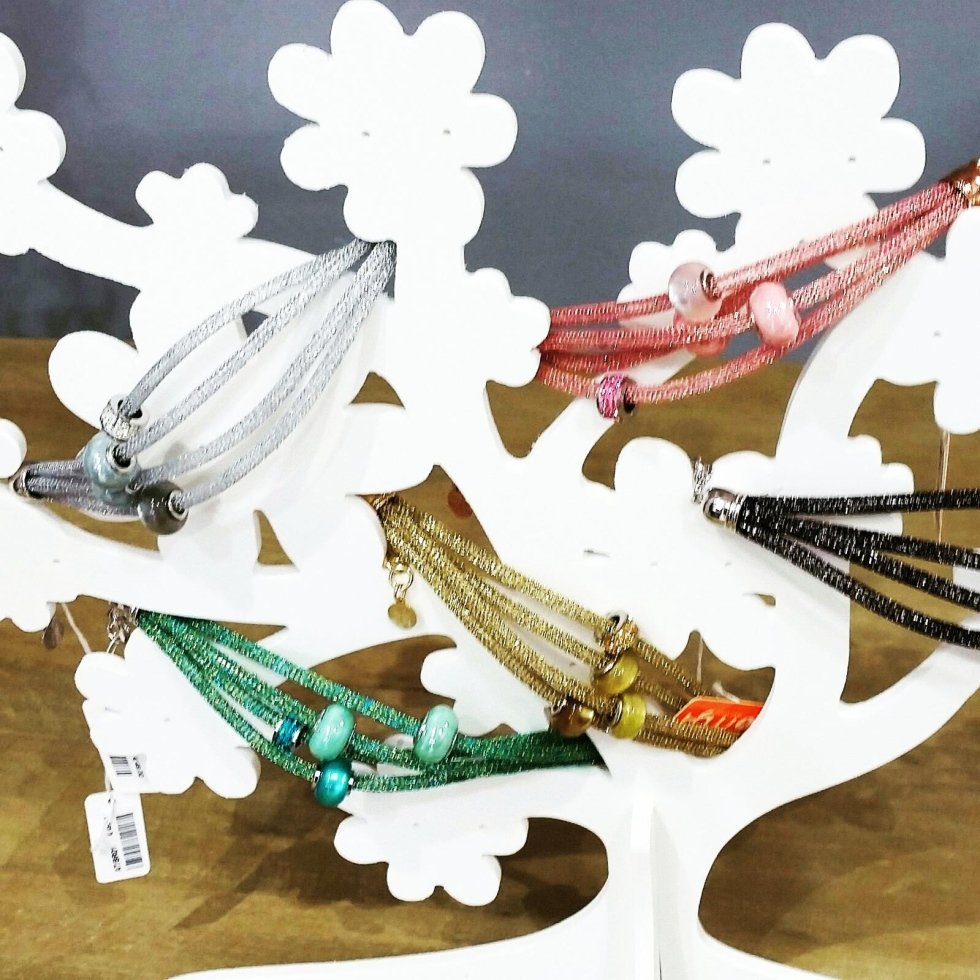 bijoux modena tessuto e swaroski