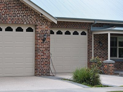 detailed brick on garage and home