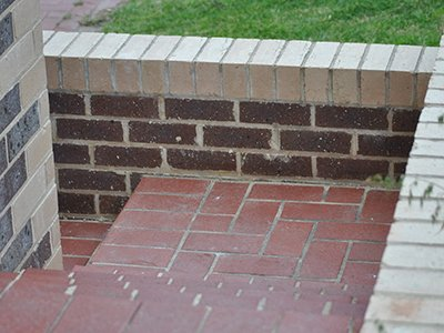 custom brick walkway steps