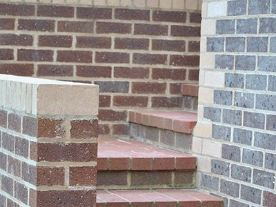 custom brick steps