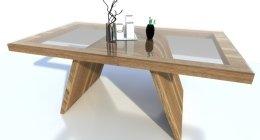 tavolo, design, cristallo,