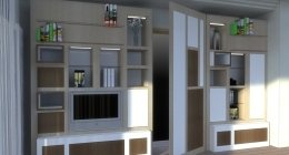 progettazione, interior design, mobile tv, salotto, soggiorno