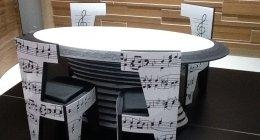 tavolo, musica, sedie, sedia, beethoven, missa solemnis, spartito musicale
