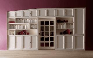 parete attrezzata con libreria pacema