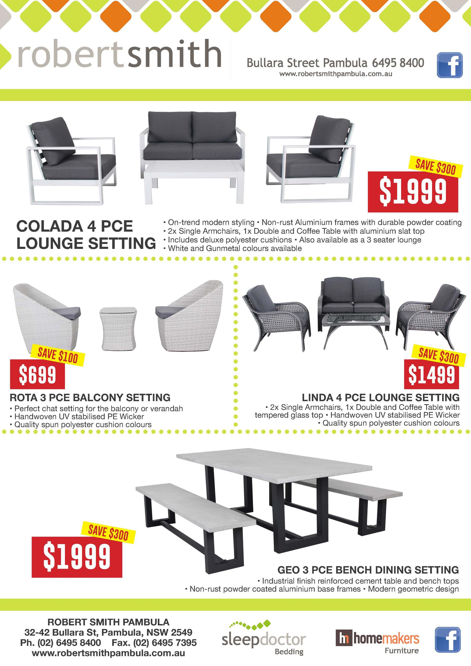 Robert Smith Discount Furnishing Pambula NSW Outdoor Furniture