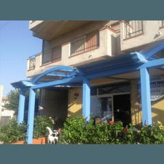veranda legno azzurro