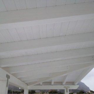 veranda legno bianco