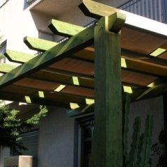 pergolato legno verde
