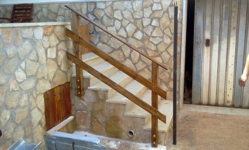 ringhiera scala legno