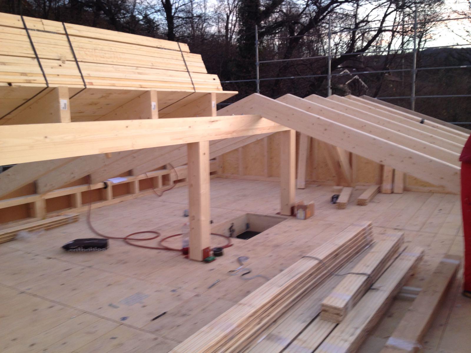 travi in legno come base del tetto
