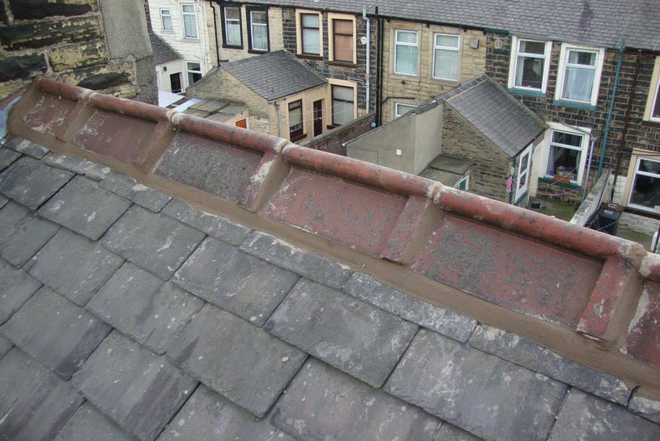 guttering pipe on the roofline