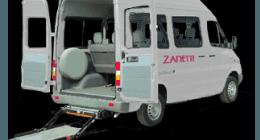 trasporto disabili, minibus con pedana, pedana sollevamento carrozzine
